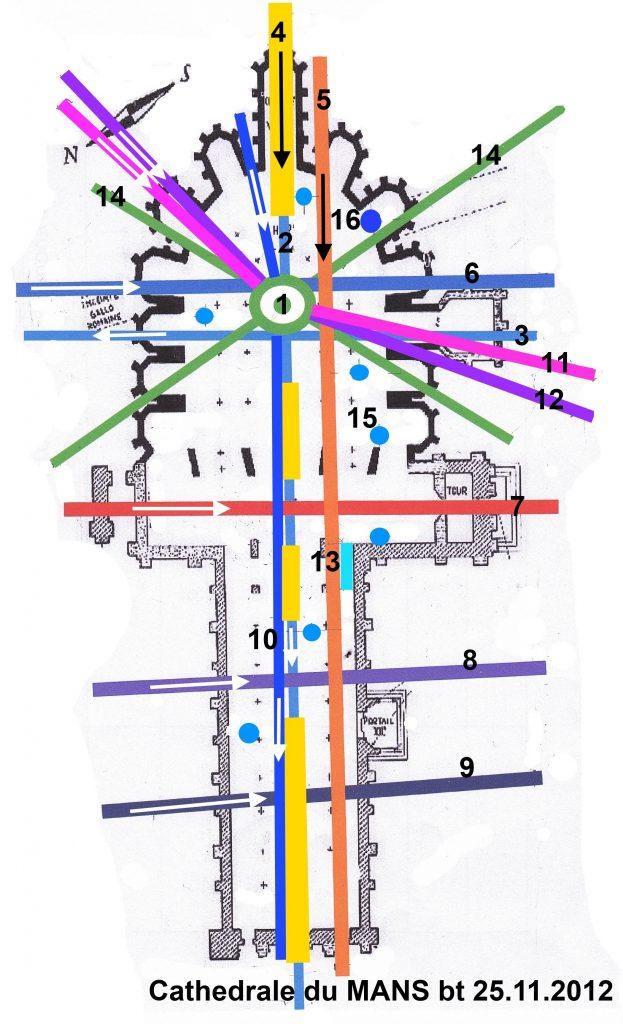 Plan de la Cathédrale du Mans