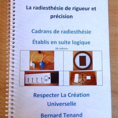 Cahier de radiesthésie