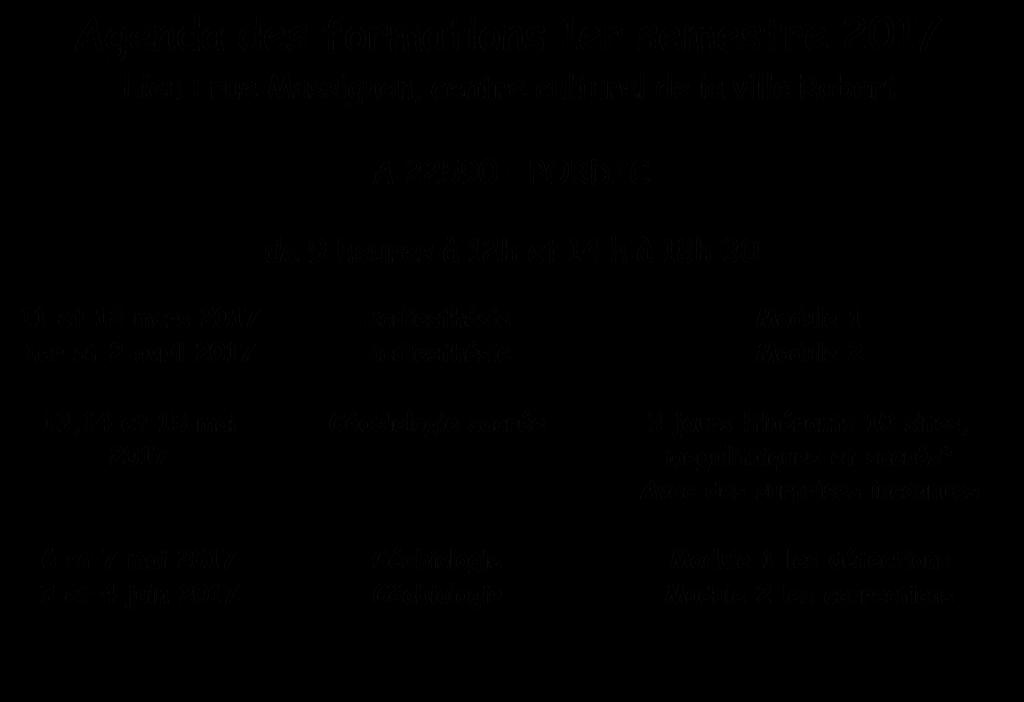 AGENDA 20178 pour le site
