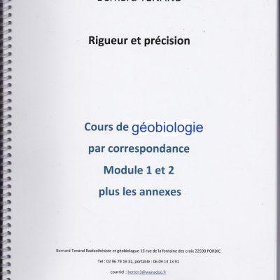 COURS PAR CORRESPONDANCE  GEOBIOLOGIE 1et 2