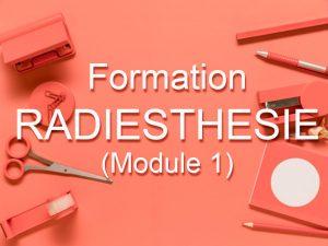 Formation Radiesthésie 1